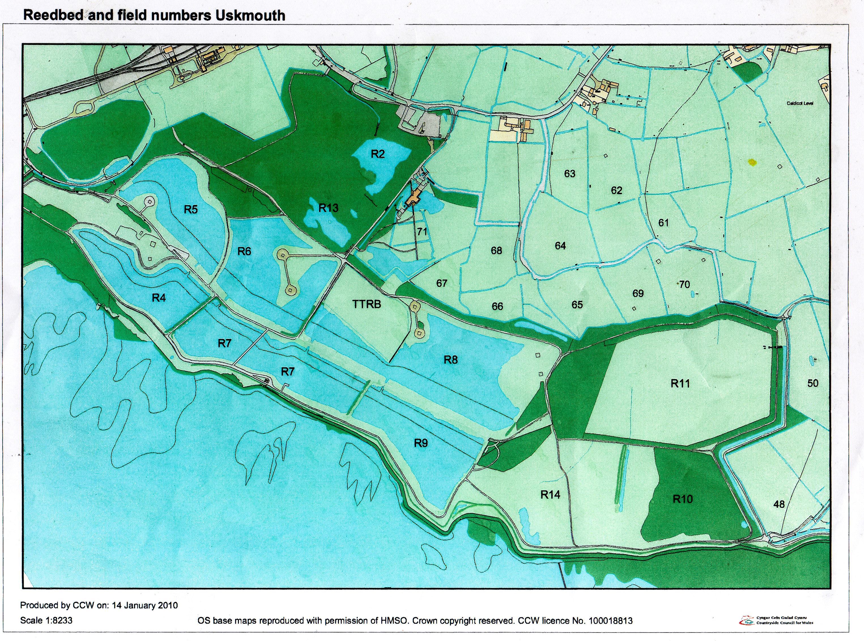 Map of Reserve in JPG format Newport Wetlands Newport Wetlands