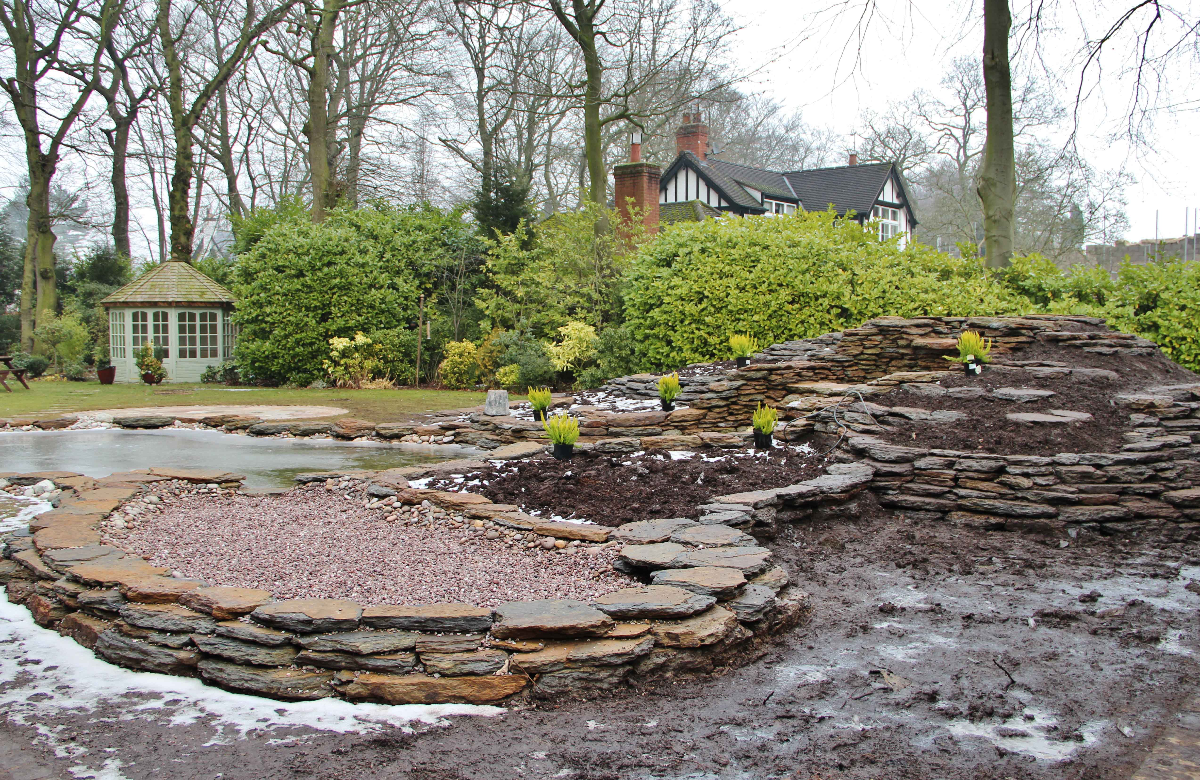 This one 39 s for wendy pond construction greenfingers for Bog filter construction