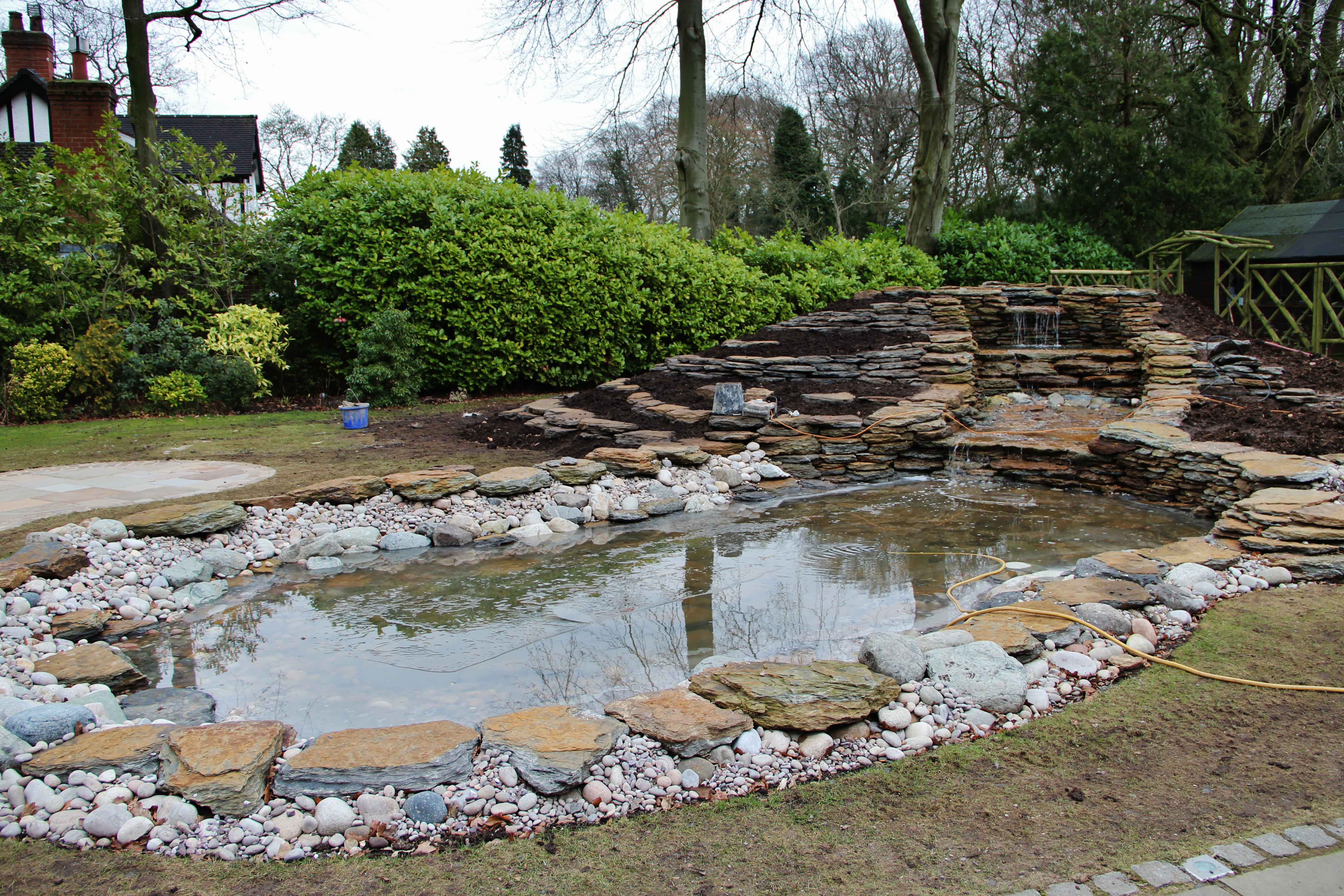 This one 39 s for wendy pond construction greenfingers for Filling in a pond