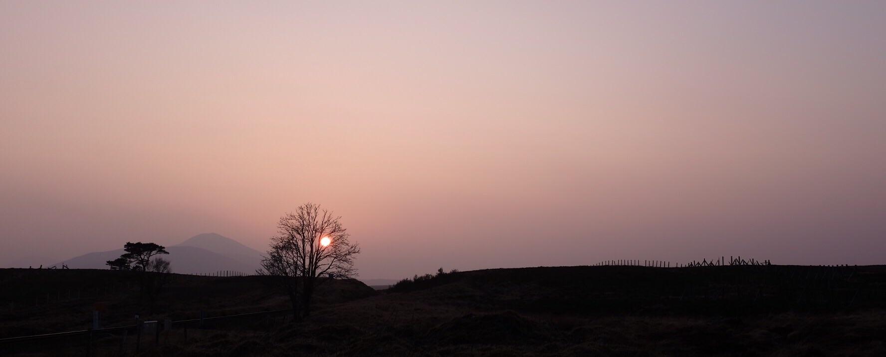 Sundown from Forsinard Station