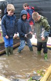Wellies needed for landscaping the wildlife pond!