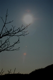 Sun getting ready for the eclipse Mawddach valley