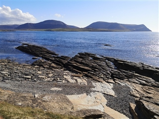 View of Hoy from Stromness on sunny day