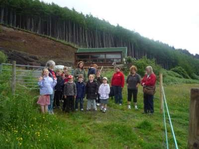 Staff and Pupils from Lochdonhead Primary School
