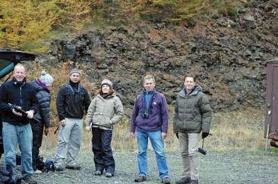The Autumnwatch team at Loch Frisa