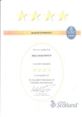 VisitScotland Certificate