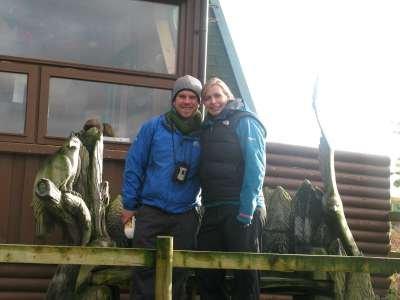 John & Meg on Honeymoon at the Eagle Hide, Loch Frisa - photo Debby Thorne
