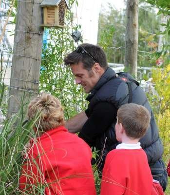 Nick Baker at Lochdonhead Primary School - Photo Debby Thorne