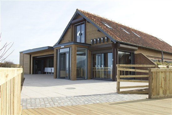 Bempton Cliffs visitor centre, funded by HLF.