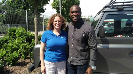 Vivien Hartwell with BBC Springwatch presenter Patrick Aryee. (RSPB)