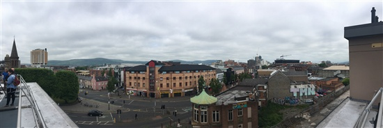 View across Belfast from Crescent Arts Centre