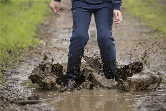 Jumping in puddles Image credit Andy Hay