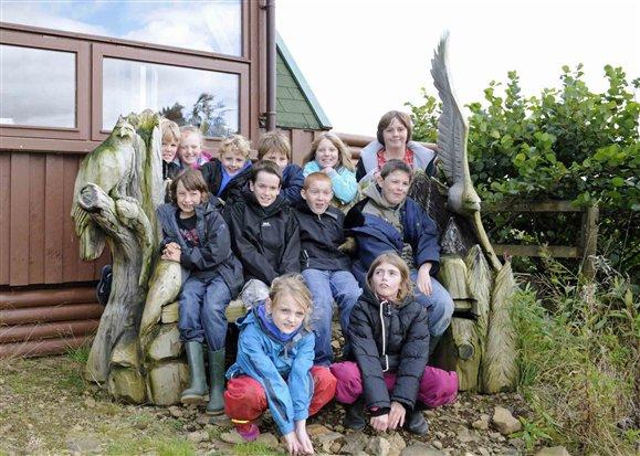 Pupils from Salen Primary School