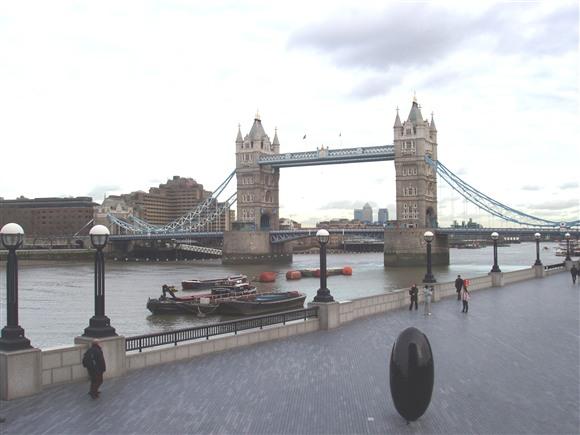 Tower Bridge from Southwark, where development is in full-swing