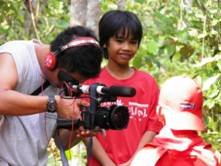 Filming Si Bolang, Harapan Rainforest, September 2011