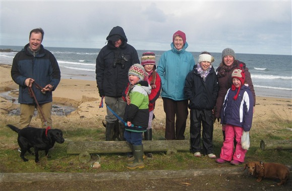 Some of Fraserburgh & District's toughest on the beach at St Combs