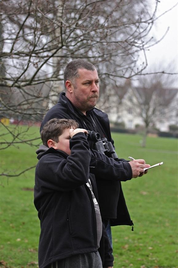 Tony and Oliver on Big Park Birdwatch