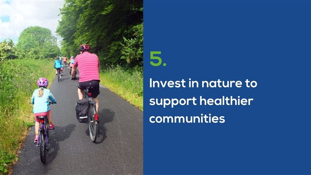 Invest in nature to support healthier communities